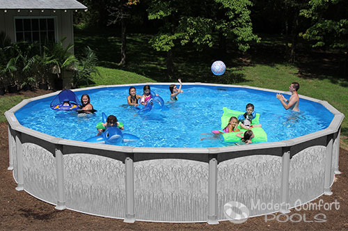 Modern Comfort Pools Swim N Play Above Ground Pools For