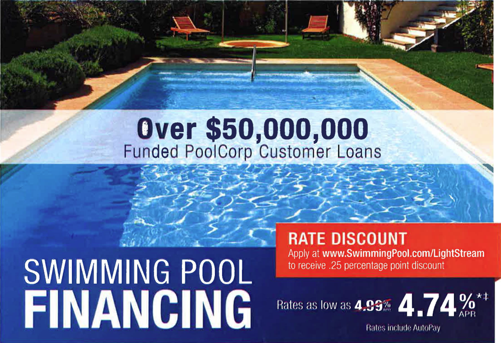 Swimming Pool Financing As Low As 4.74%